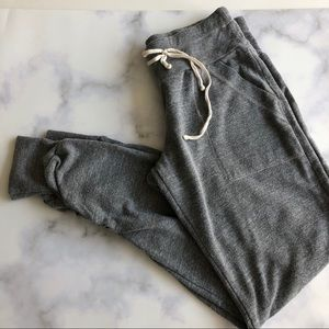 Splendid Ruched Jogger Pants in Heather Gray